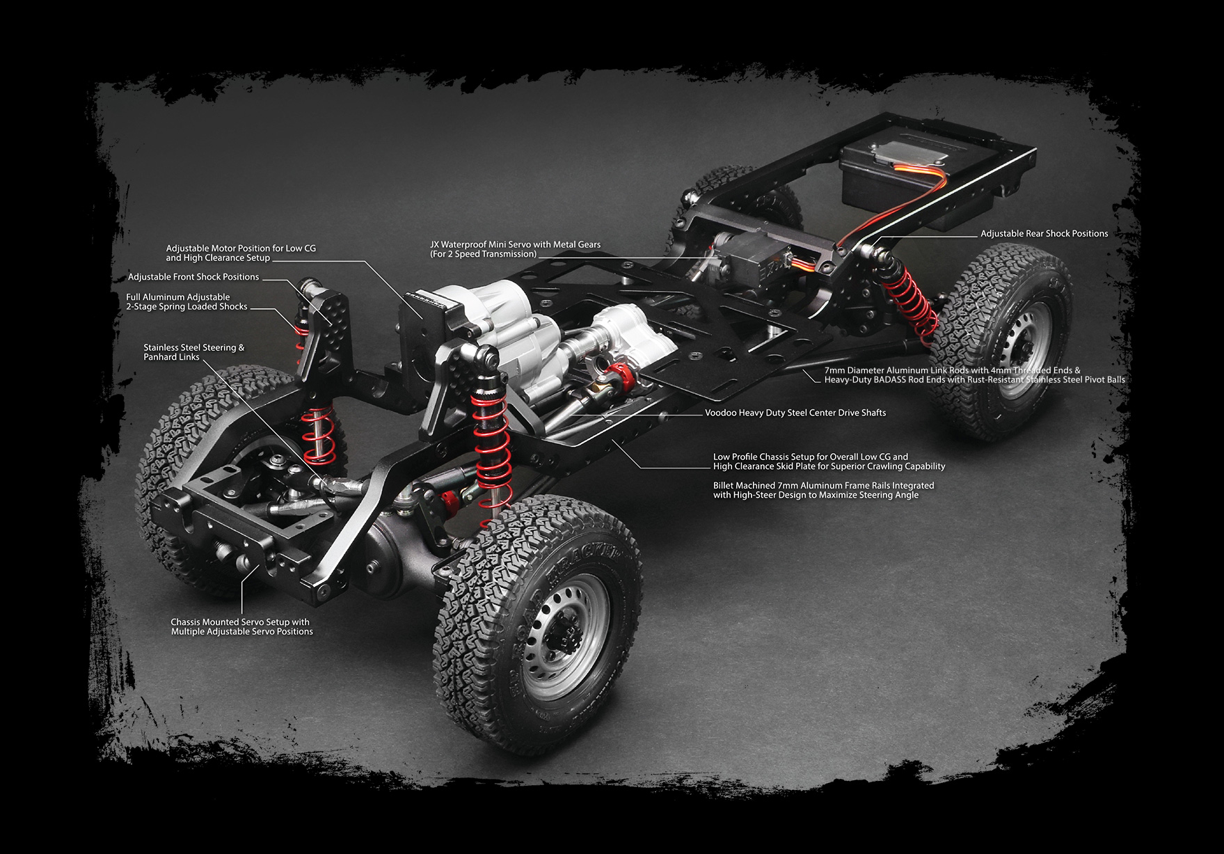 BR8002 Boom Racing BRX01 1/10 Radio Control Chassis Kit with LC70