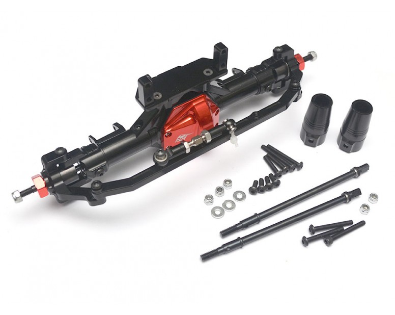 Complete Assembled Aluminum Convertible Front or Rear Axle Red