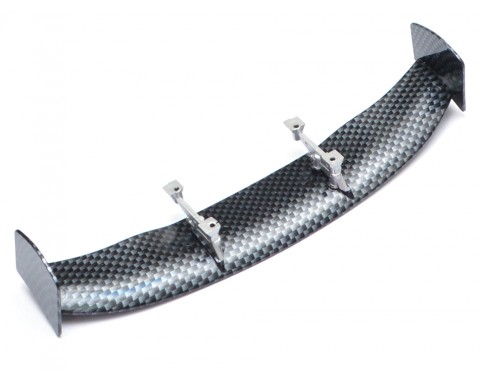 1/10th Scale RC Toy CF Rear Spoiler Wing W/ Stands (#00498)