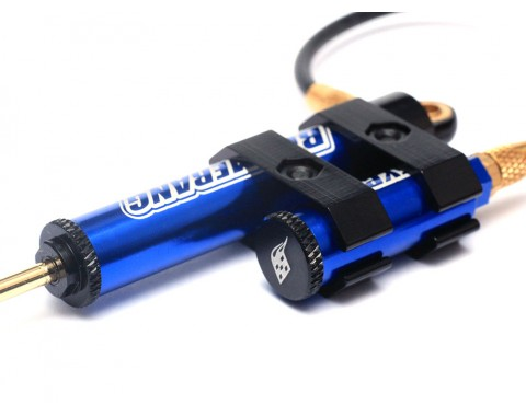 Boomerang™ Type G Piggyback Internal Spring Shocks w/ Functional Reservoir 100mm for 1/10 Crawlers Blue [OFFICIAL RECON G6 SHOCKS]