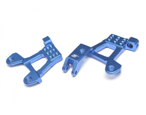 Aluminum Front Shock Hoops for SCX10 II - 1 Pair Blue