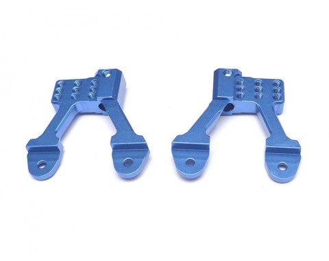 Aluminum Rear Shock Hoops for SCX10 II - 1 Pair Blue