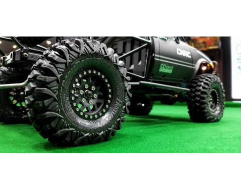 HUSTLER M/T Xtreme 1.9 Rock Crawling Tires 4.45x1.57 SNAIL SLIME™ Compound W/ 2-Stage Foams (Super Soft) [Recon G6 Certified] 2pcs
