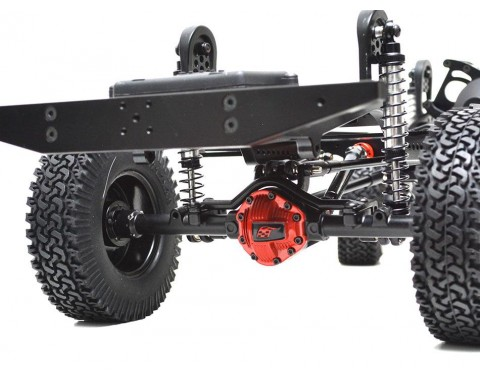 1/10 ARTR Assembled D110 Chassis w/ TRC Raffee Defender D110 Pickup Truck Hard Body