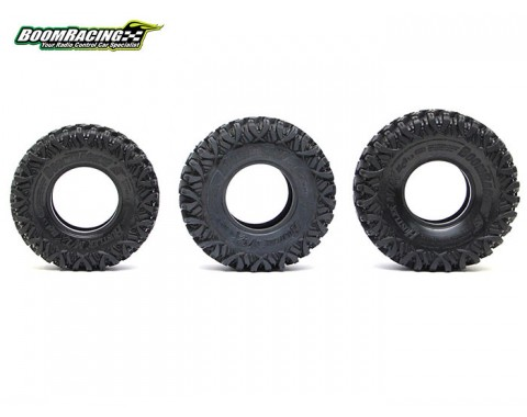 HUSTLER M/T Xtreme 1.9 MC1 Rock Crawling Tires 4.19x1.46 SNAIL SLIME™ Compound W/ 2-Stage Foams (Super Soft) [Recon G6 Certified] 2pcs
