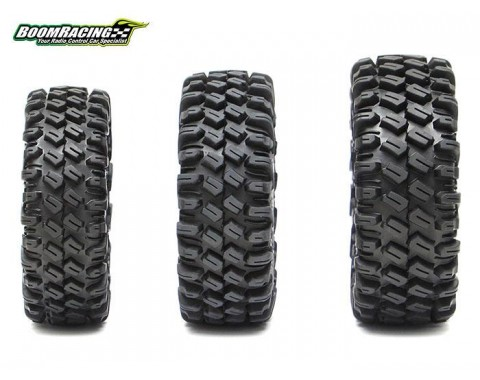 HUSTLER M/T Xtreme 1.9 MC1 Rock Crawling Tires 4.19x1.46 SNAIL SLIME™ Compound W/ 2-Stage Foams (Ultra Soft) 2pcs