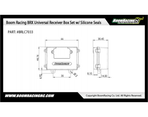 BRX Universal Receiver Box Set w/ Silicone Seals