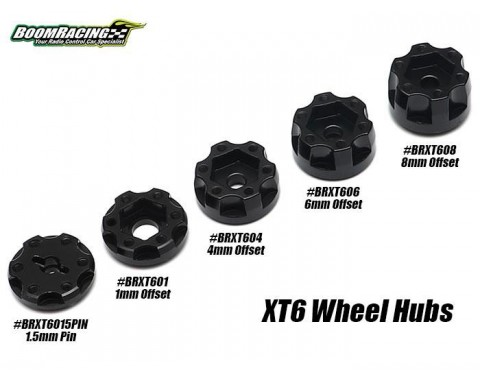 XT6015P 6-Lug Aluminum Wheel Hub Adapters 1.5MM Pin Offset (2)