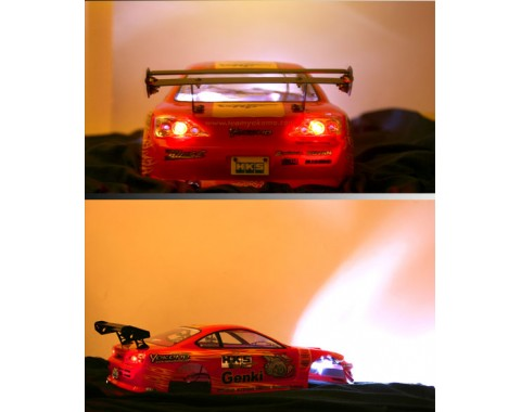 Super Bright LED Light Kit Set (Headlight and Taillight) with Light Holders