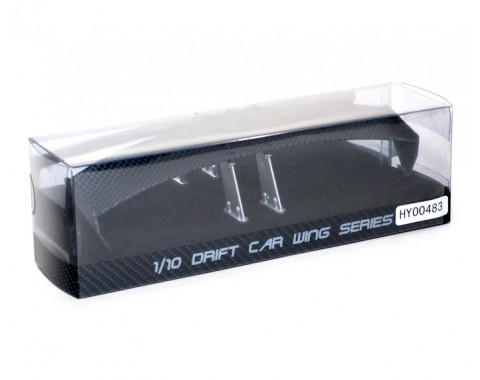 1/10th Scale CF Rear Spoiler Wing W/ Stands (#00483)