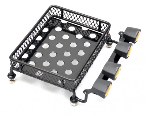 Crawler Luggage Tray With Fog Led For Tamiya Axial Light Yellow