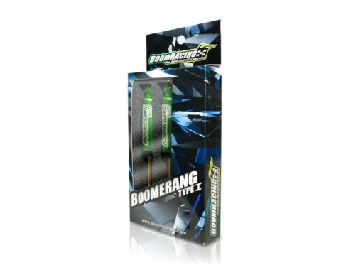 Boomerang™ Type I Aluminum Internal Shocks Set 90MM (2) Green [OFFICIAL RECON G6 SHOCKS]
