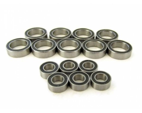 High Performance Full Ball Bearings Set Rubber Sealed (15 Total)