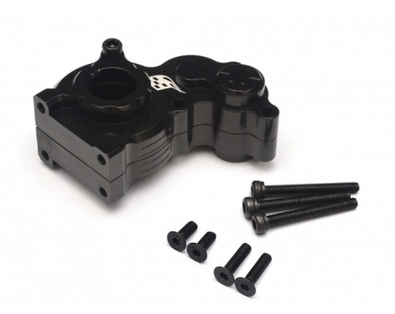 Aluminum Center Gearbox - 1 Pc Black [RECON G6 The Fix Certified]