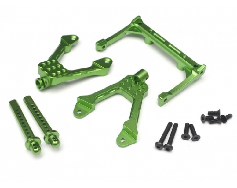Aluminum Front Shock Tower Mount - 1 Set Green [RECON G6 The Fix Certified]