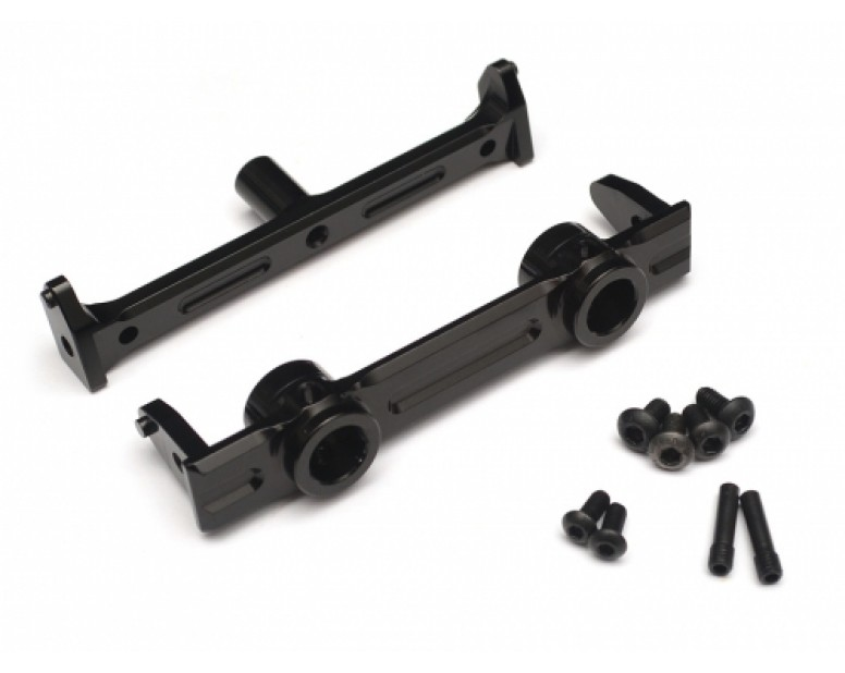 Aluminum Front Bumper Mount - 1 Pc Black [RECON G6 The Fix Certified]