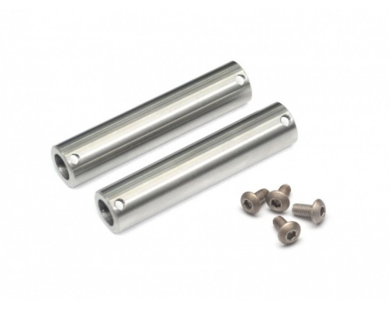 Kronik™ Axle Tubes Stainless Steel for SCX10 (2) Silver [RECON G6 The Fix Certified]