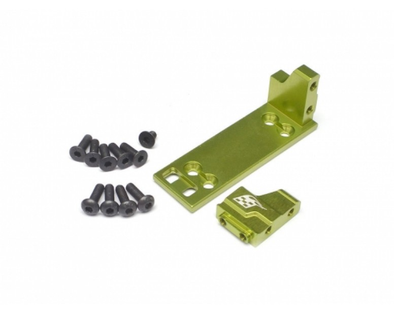 ScaleTrail™ Aluminum Adjustable One-Piece Servo Plate Mount Green