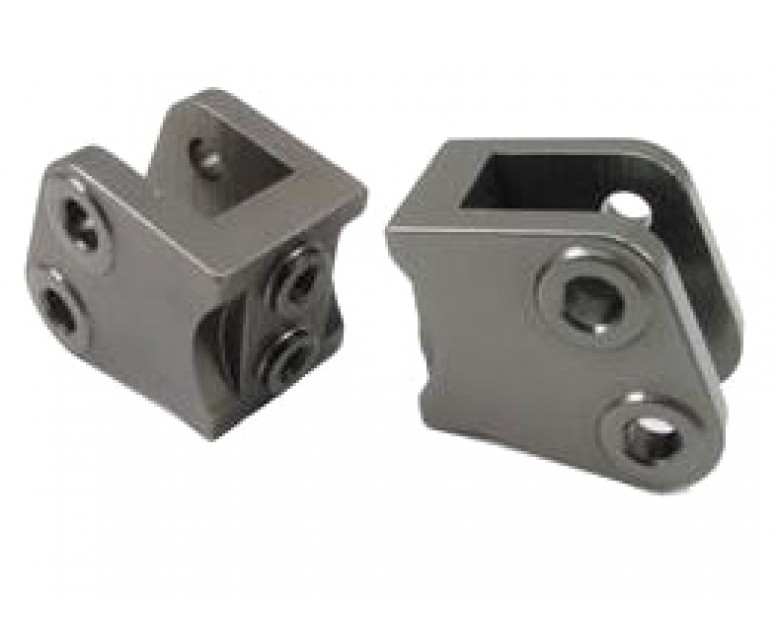 Aluminum Lower Suspension Link mount (2) Gun Metal