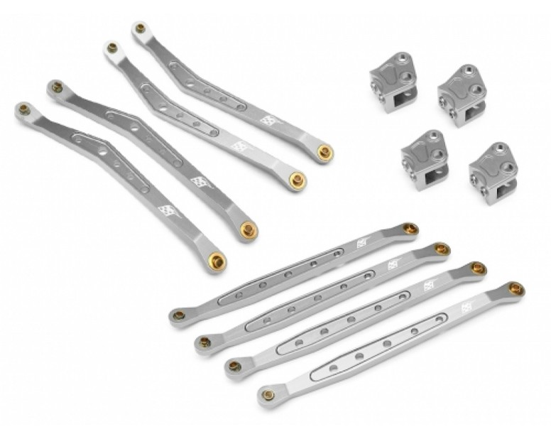 Axial Wraith Linkage Combo Set (Upper Linkage, Chassis Linkage, and Lower Suspension Link mount x2) Silver
