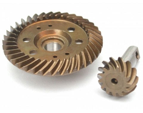 Front Steel Heavy Duty Helical Spiral Differential Ring & Pinion Gear (37T/13T) for All Traxxas 4WD 4X4