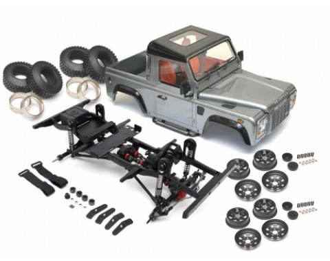 1/10 ARTR Assembled D90 Chassis w/ TRC Raffee Defender D90 Pickup Hard Body