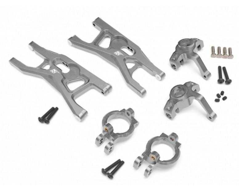 Axial Yeti Performance Combo Package A With Tool Box (Steering Knuckle,Front Steering Knuckle Caster Blocks,Front Control Arms Set) Silver