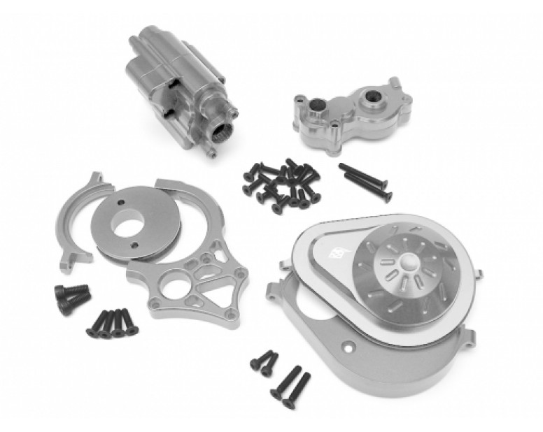Axial Yeti Performance Combo Package B With Tool Box (Motor Mount,Transmission Spur Gear Cover Set,Transmission Case) Silver