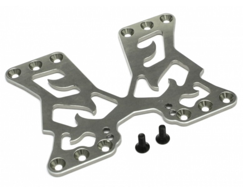 Aluminum Rear battery Mounting Plate for Sakura D4 Rear & AWD Gun Metal