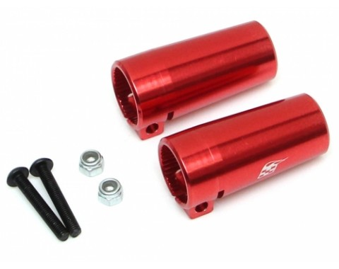 CNC Aluminum Rear Lockout for AR44 Axle Housing 1 Pair Red