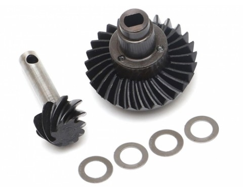 Heavy Duty Keyed Bevel Helical Overdrive Gear 27/8T + Differential Locker Set for AR44 Axle