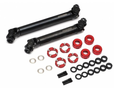 BADASS™ HD Steel Center Drive Shaft Set for Traxxas TRX4 D110 / Sport / Ford Front & Rear (2) [Recon G6 Certified]