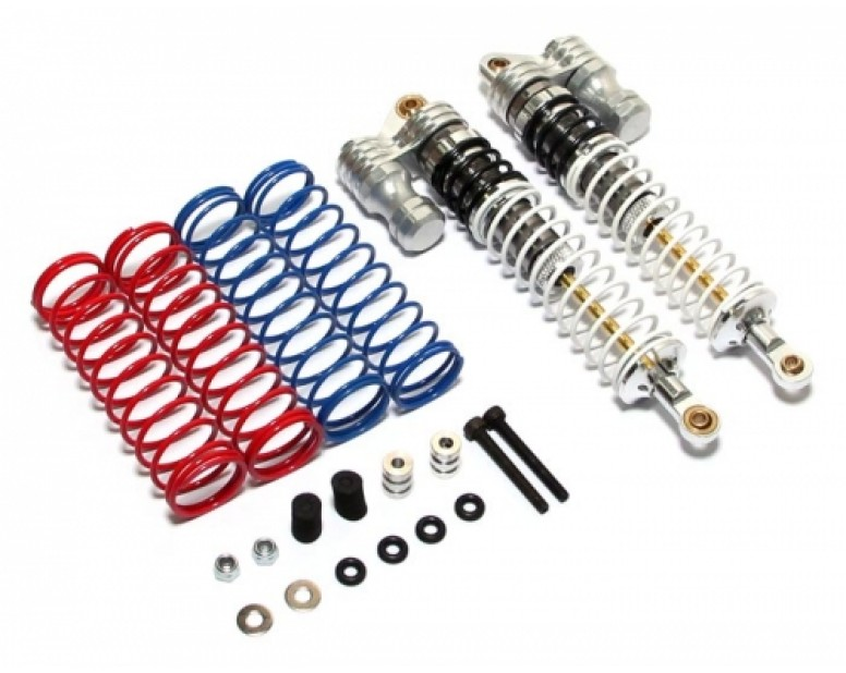 Boomerang™ Type PB Race Ready Aluminum Double Suspension Adjustable Piggyback Shocks 115MM Silver