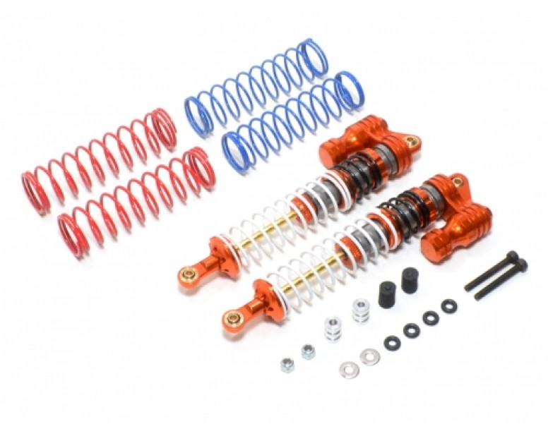 Boomerang™ Type PB Race Ready Aluminum Double Suspension Adjustable Piggyback Shocks 120MM Orange