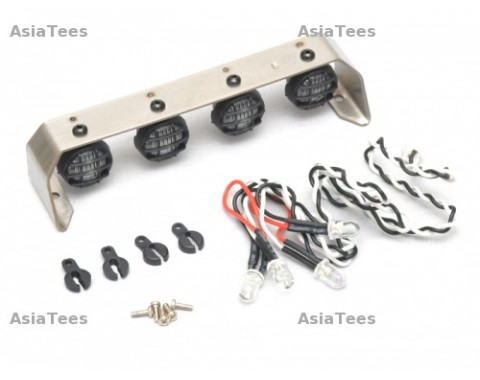 12MM-4 Stainless Steel Led Light Set White