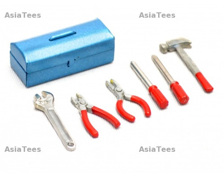 Scale Accessories - RC Tool Set Red