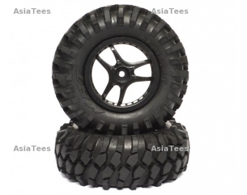 Crawler Tire set 96mm K1(Black) 3 Spoke Wheel Black