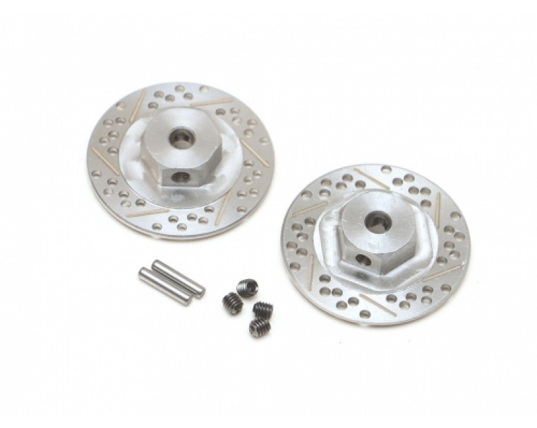 Stainless Steel Cross Drilled Brake Disc 12mm Hex (2)