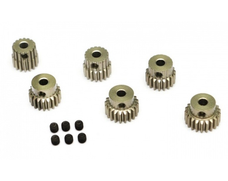 Steel Pinion Gear Combo Set (48P 16T-21T) - 6 Pcs