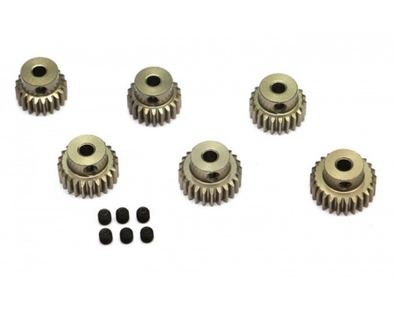 Steel Pinion Gear Combo Set (48P 20T-25T) - 6 Pcs