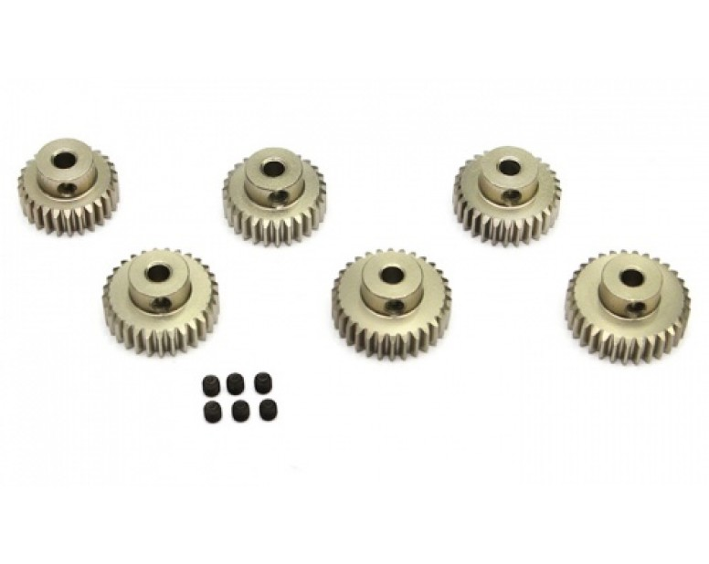 Steel Pinion Gear Combo Set (48P 30T-35T) - 6 Pcs