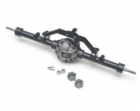 Complete Assembled Scale PHAT™ Rear Axle for TF2 / G2 D90/D110 Gun Metal