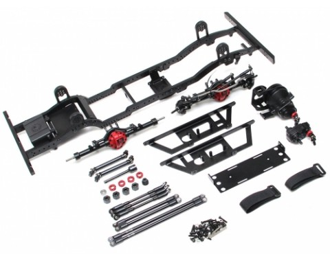 1/10 D110 Metal Chassis Kit (Without Shocks Wheels Tires) for TRC Raffee D110 Defender Body