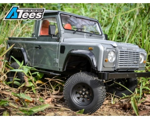 1/10 D90 Chassis Kit (Without Wheels Tires Shocks) w/ TRC Raffee Defender D90 Pickup Hard Body