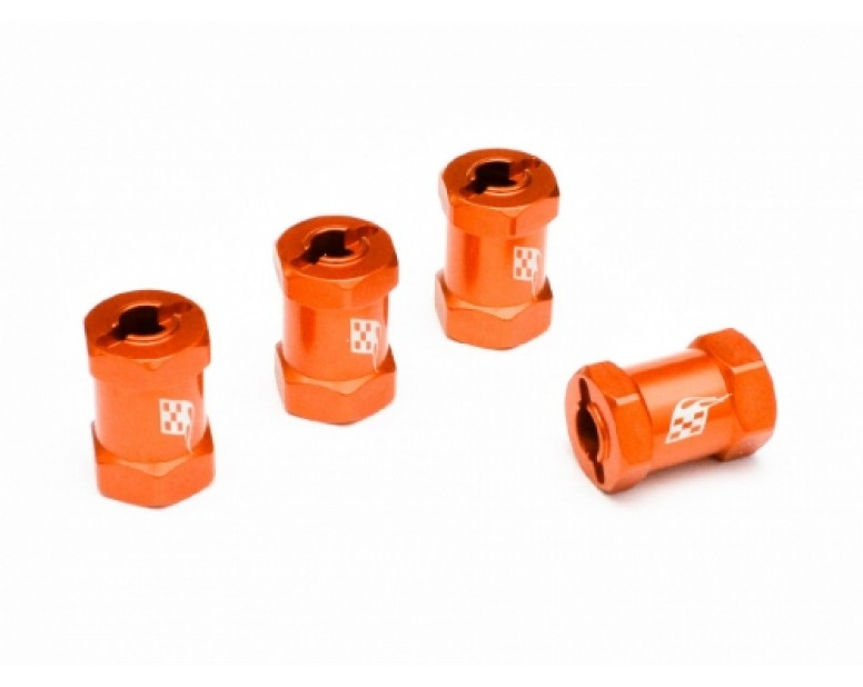 Aluminum Wheel Widener (4) (Offset: 14mm) Orange [Recon G6 The Fix Certified]