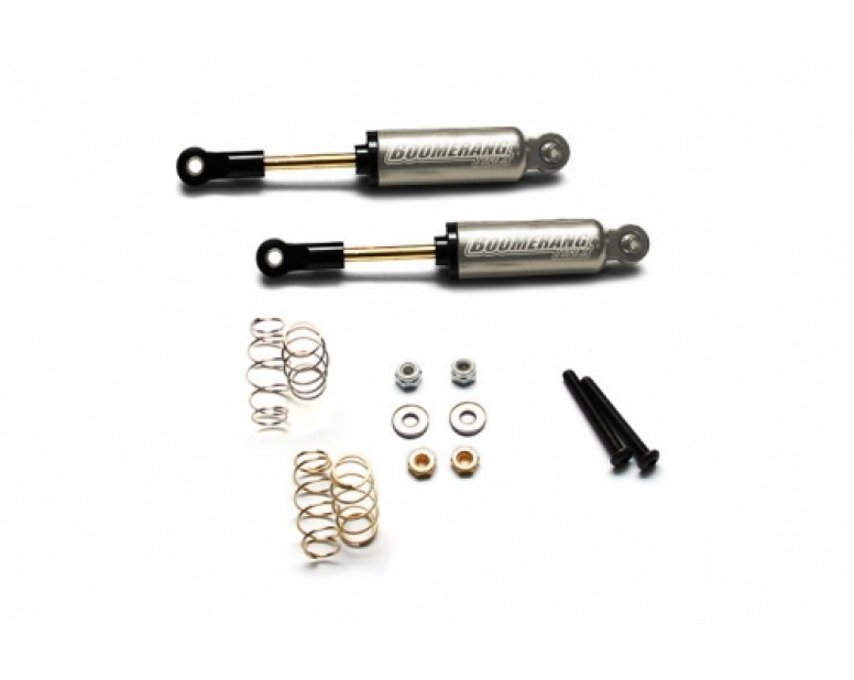 Boomerang™ Type I Aluminum Internal Shocks Set 90MM (2) Gun Metal [OFFICIAL RECON G6 SHOCKS]