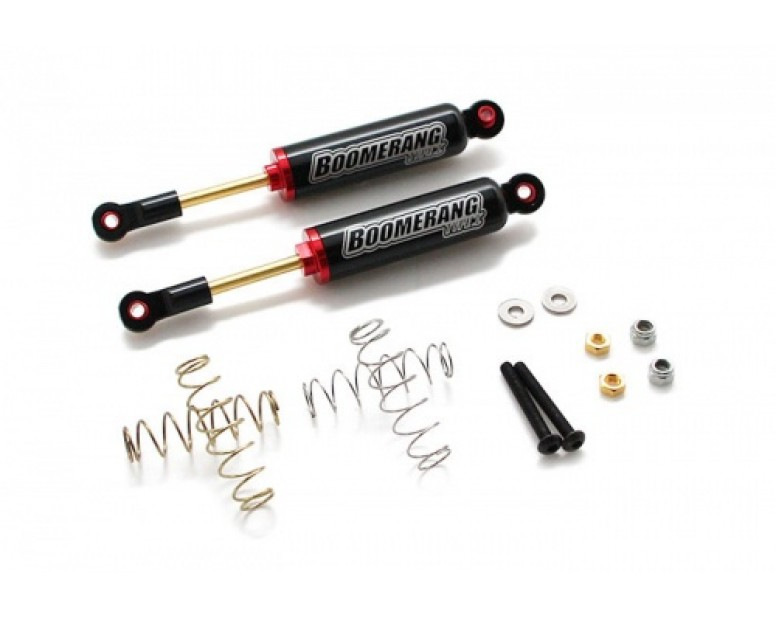 Boomerang™ Type I Aluminum Internal Shocks Set 100MM (2) Black [OFFICIAL RECON G6 SHOCKS]