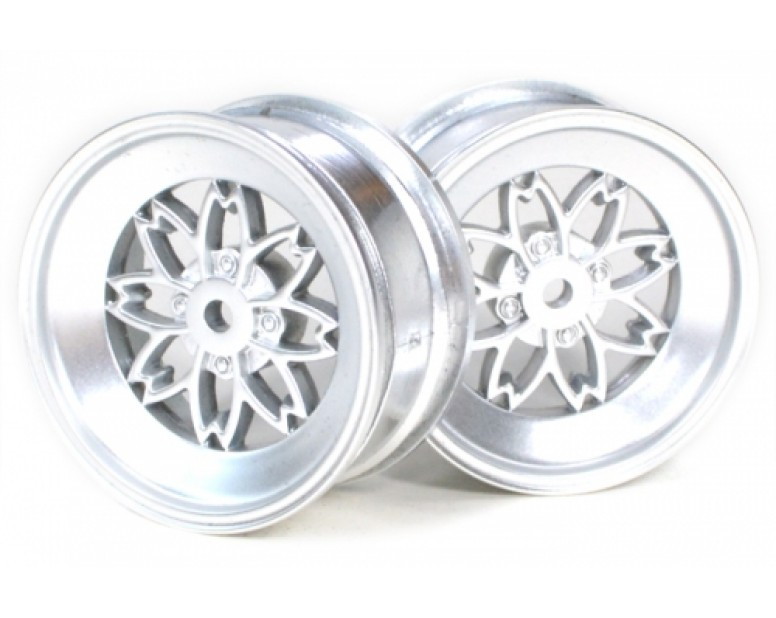 Mesh Wheel Set Grey Silver (2Pcs) For 1/10 RC Car