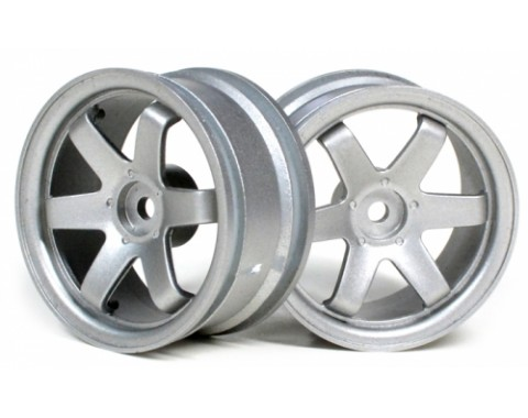 6-Spoke Wheel Set (2Pcs) Grey For 1/10 RC Car (3mm Offset)