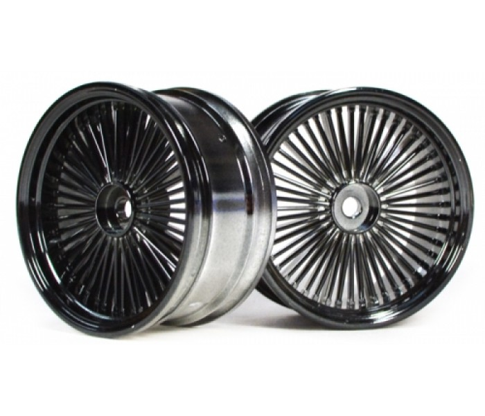 Wire Wheel Set 2pcs Chromeblack For 110 Rc Car 26mmrhboomracingrc: Rc Car From A Wire At Cicentre.net